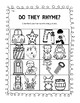 Rhyme Recognition Skill Sheets - Phonological Awareness Skills Test