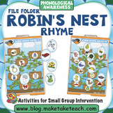 Rhyme - Robin's Nest File Folder Activities
