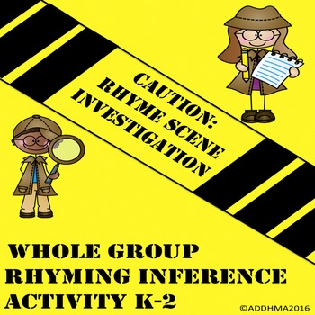 Inference and Rhyme Game: Rhyme Scene Investigation