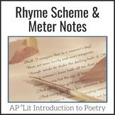 Rhyme Scheme & Meter Lesson