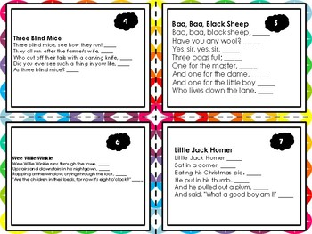 Rhyme Scheme Task Cards