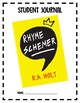 Rhyme Schemer Novel Study