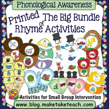 Rhyme - The Big Bundle of Rhyme Activities PRINTED