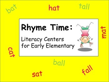 Literacy Centers: Word Families: Rhyme Time