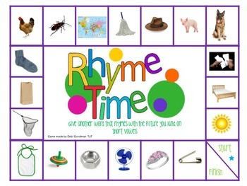 Rhyme Time-2 Board Games-Long and Short Vowels