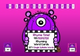 Rhyme Time! 99 Monster Rhyming Cards for Word Work - Set 1