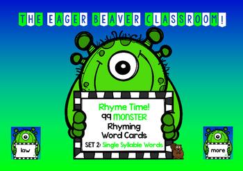 ENGLISH/LITERACY CENTER - Rhyme Time! 99 Monster Rhyming G