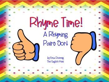 Rhyme Time!  A Pocket Chart Sort