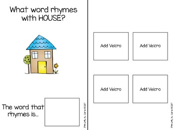 Rhyme Time An Adapted Book For Learning Rhyming Words By Primarily