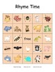 Rhyme Time: Animal Rhyming Bingo