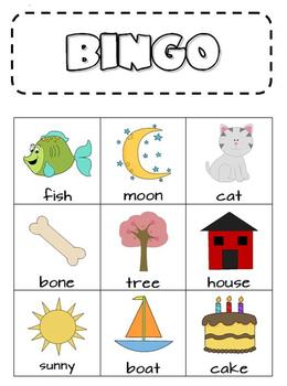 Rhyme Time Bingo and Matching Cards
