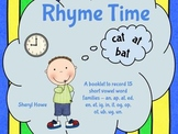 Rhyme Time Booklet for Short Vowels