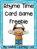 Rhyme Time Card Game Freebie