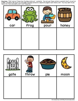 Rhyme Time Center Activity