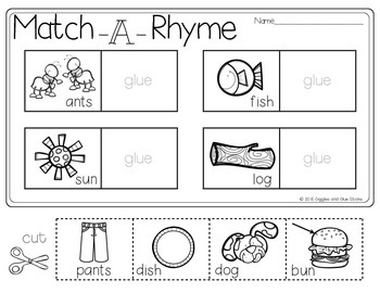Rhyme Time!  (Centers and Printables)