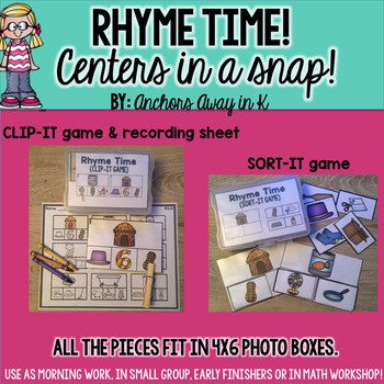 Rhyme Time - Centers in a Snap