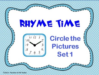 Rhyme Time - Circle the Pictures Set 1