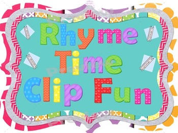 Rhyme Time Clip Fun~Phonemic Awareness