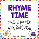 Rhyme Time Cut/Paste Worksheets