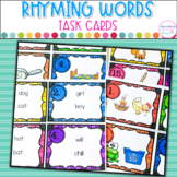 Rhyming Word Task Cards- 3 Differentiated Activities