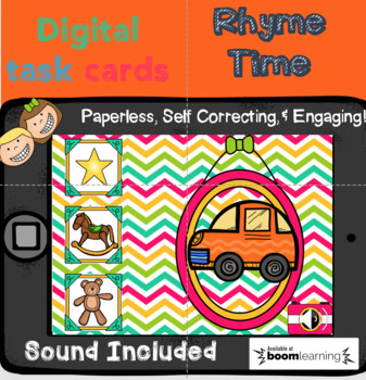 Rhyme Time Digital Task Cards (Boom Cards)