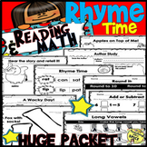 Rhyme Time ELA and Math - Read Across America - Author Study Organizer- 80 pages