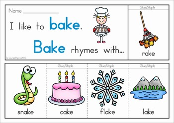 Rhyme Time - Flip Books {Long Vowels}