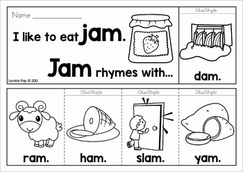 Rhyming Flip Books (Word Families)