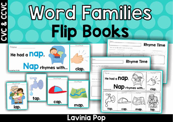 Rhyming Flip Books (Word Families)