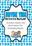 Rhyme Time Games and Activity Bundle