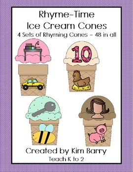 Rhyme-Time Ice Cream Cones - 48 in all