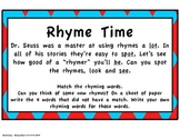 Rhyme Time Inspired by Dr. Seuss