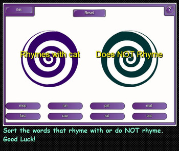 Rhyme Time Interactive games