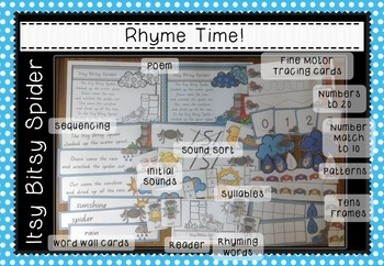 Rhyme Time - Itsy Bitsy Spider - Nursery Rhyme Math and Literacy Activity Packet