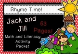 Rhyme Time - Jack and Jill - Nursery Rhyme Math and Literacy Activity Packet