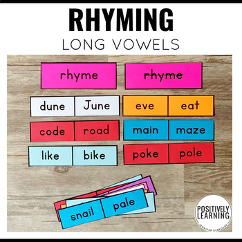 Long Vowels Rhyming Center Activity