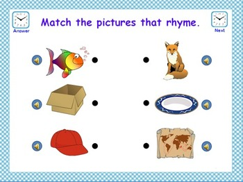 Rhyme Time Flipchart & PowerPoint File - Match the Pictures
