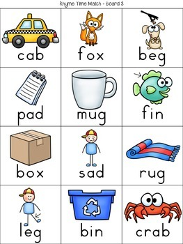 Rhyme Time {Matching Activities}