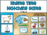 Rhyme Time Matching Game and Activities