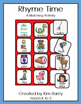 Rhyme Time Matching/Word Families
