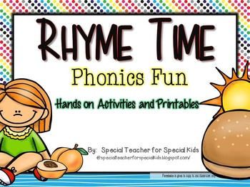 Rhyme Time -Phonics Fun {Differentiated & Aligned with Common Core}