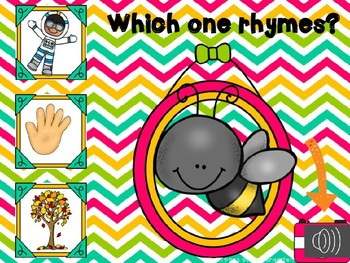 Rhyme Time Power Point Game with Audio