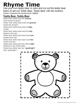 Rhyme Time Program- Group 3 Lessons
