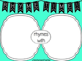 Rhyme Time {Rhyming Words Center}