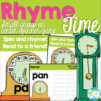 Rhyme Time - Rhyming centers for Kindergarten
