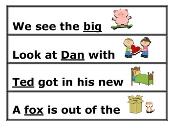 Rhyme Time Sentences