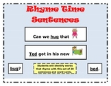Rhyme Time Sentences