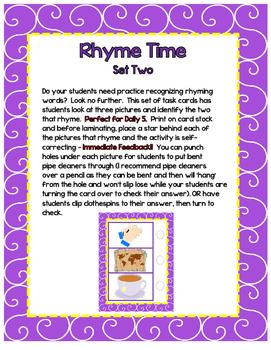 Rhyme Time - Set 2