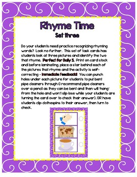 Rhyme Time - Set 3