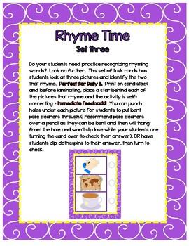 Rhyme Time - Set 3